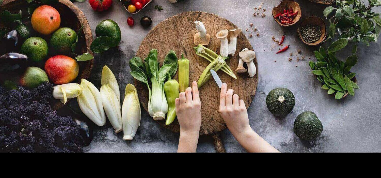 приготвяне на ястие зеленчуци